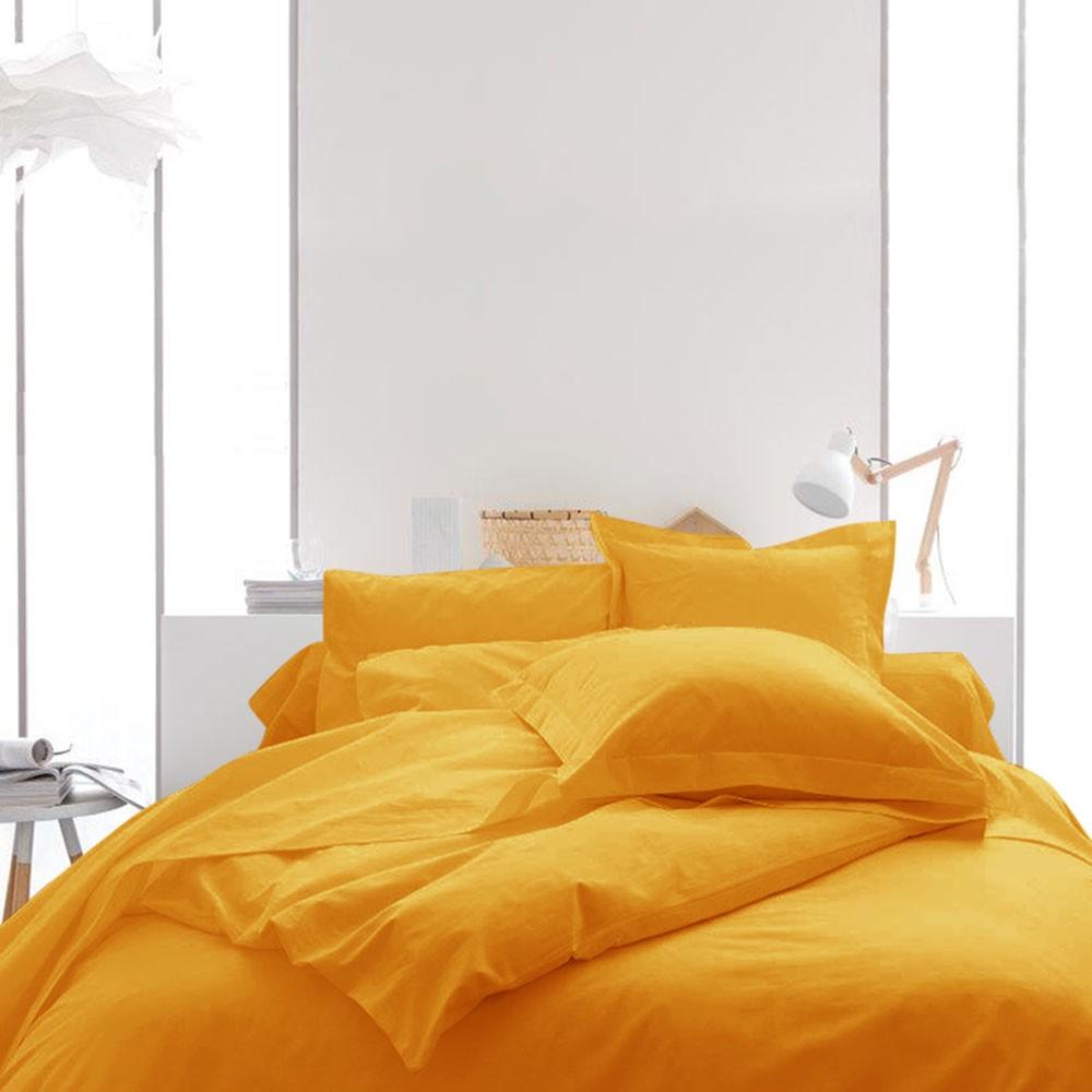 Housse de couette unie - 220 x 240 cm - 100% coton - Différents coloris : Couleur:Vendange d'orange
