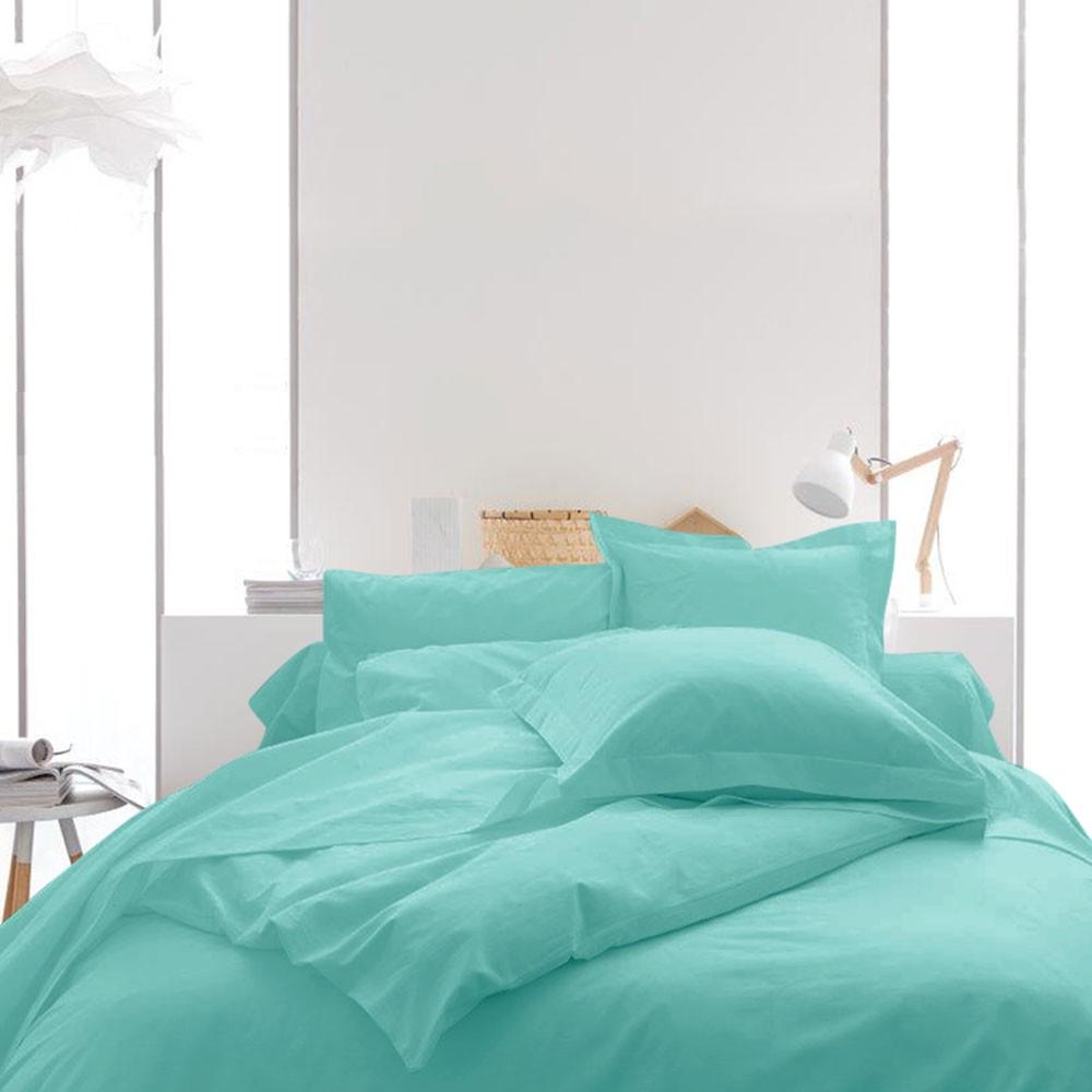 Housse de couette unie - 220 x 240 cm - 100% coton - Différents coloris : Couleur:Portofino