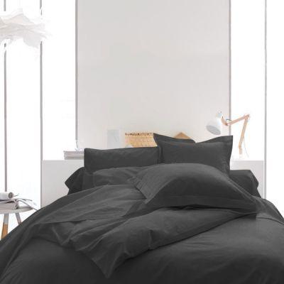 Housse de couette unie - 220 x 240 cm - 100% coton - Différents coloris