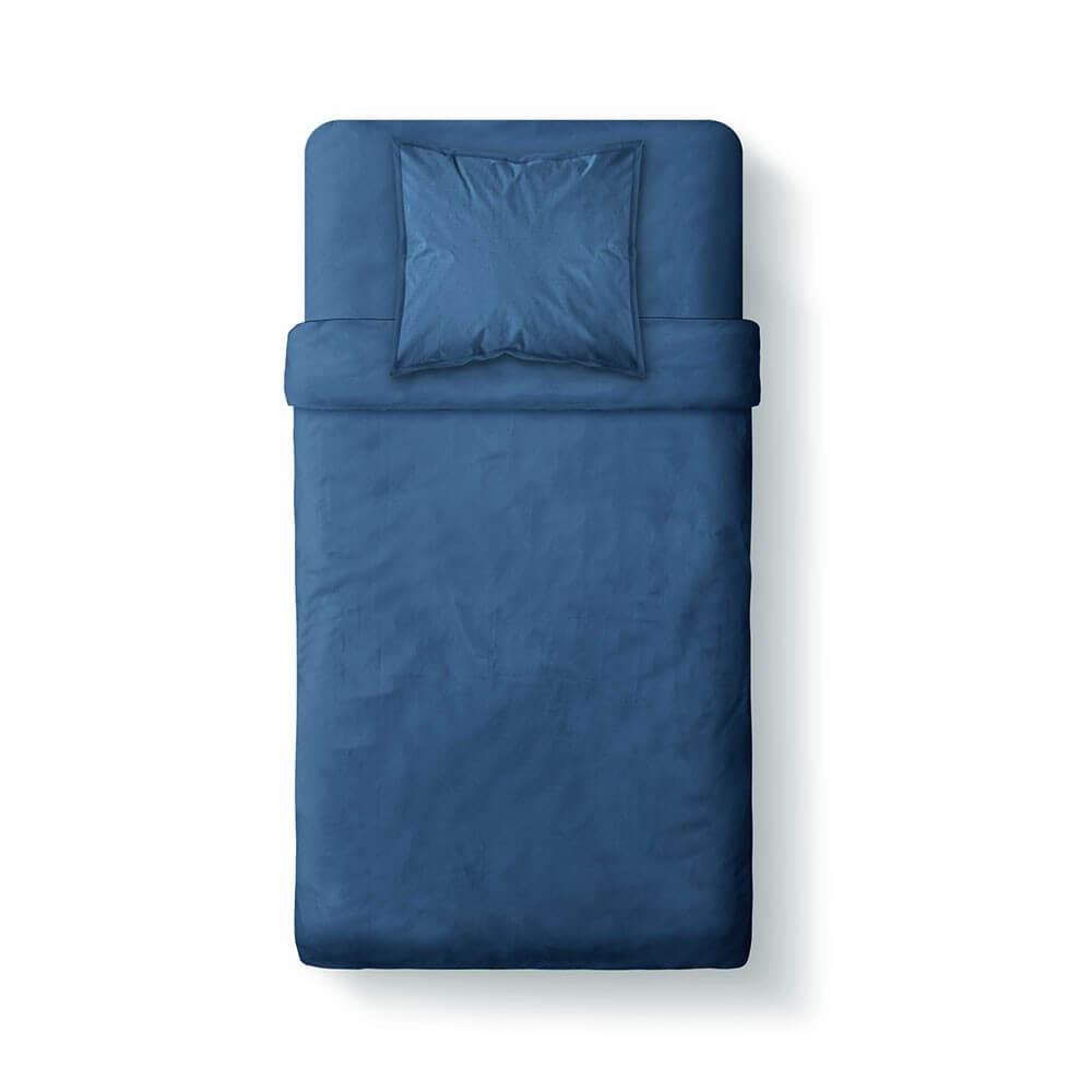 Housse de couette unie - 140 x 200 cm - 100% coton - Différents coloris : Couleur:Indigo