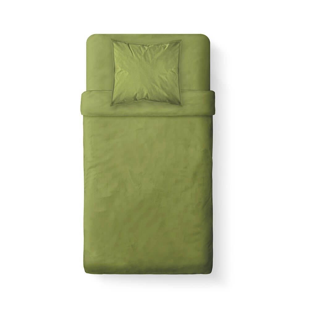 Housse de couette unie - 140 x 200 cm - 100% coton - Différents coloris : Couleur:Fougère