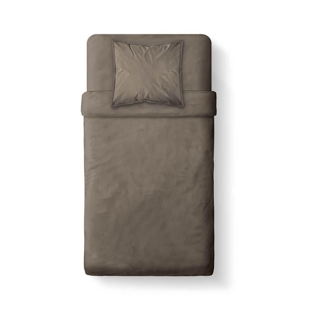 Housse de couette unie - 140 x 200 cm - 100% coton - Différents coloris : Couleur:Bronze