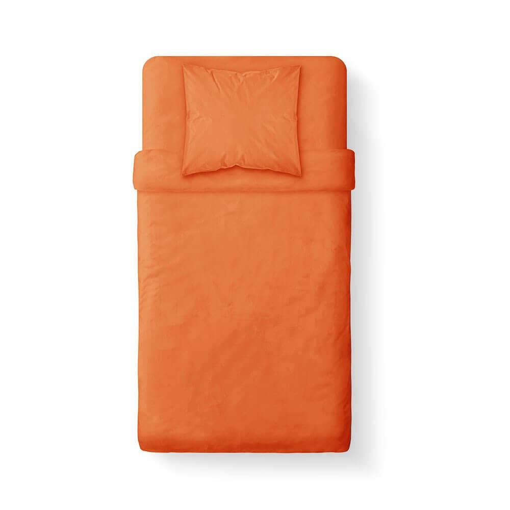 Housse de couette unie - 140 x 200 cm - 100% coton - Différents coloris : Couleur:Mandarine