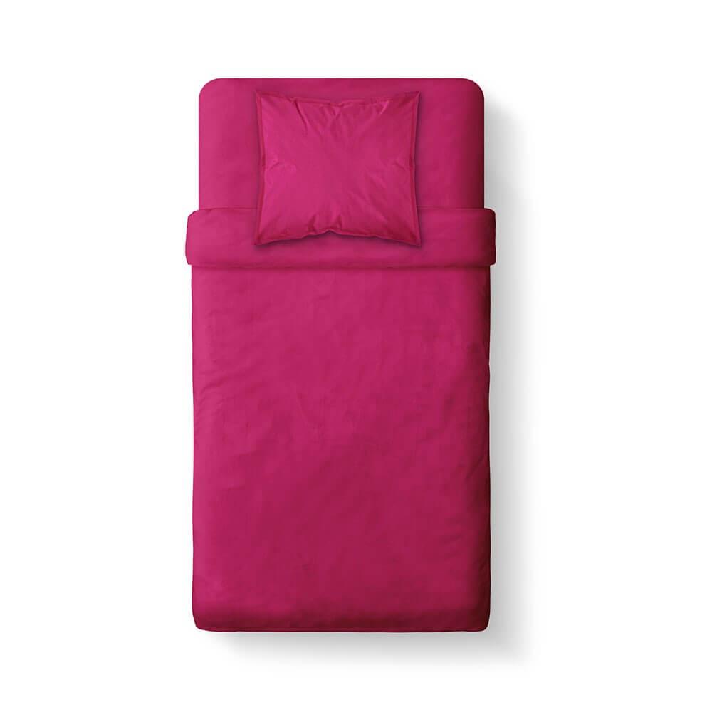 Housse de couette unie - 140 x 200 cm - 100% coton - Différents coloris : Couleur:Jus de myrtille