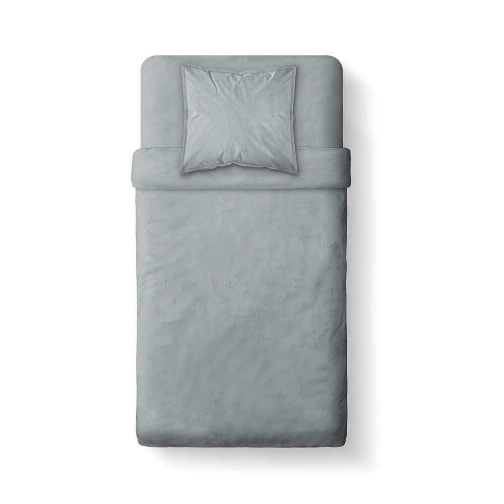 Housse de couette unie - 140 x 200 cm - 100% coton - Différents coloris : Couleur:Zinc