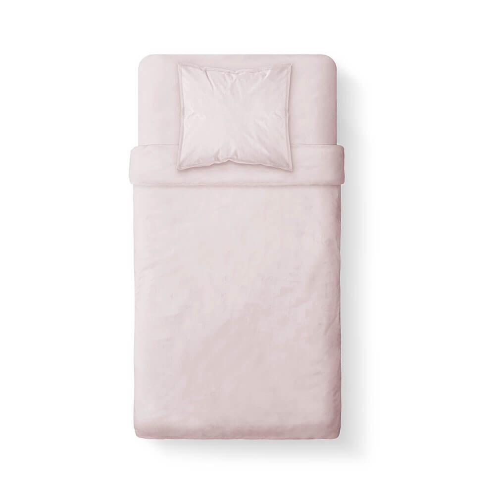 Housse de couette unie - 140 x 200 cm - 100% coton - Différents coloris : Couleur:Poudre Lilas