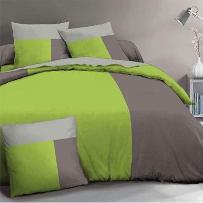 Housse de couette - 240 x 260 cm + taies - Cascade - Bicolore - Différents coloris