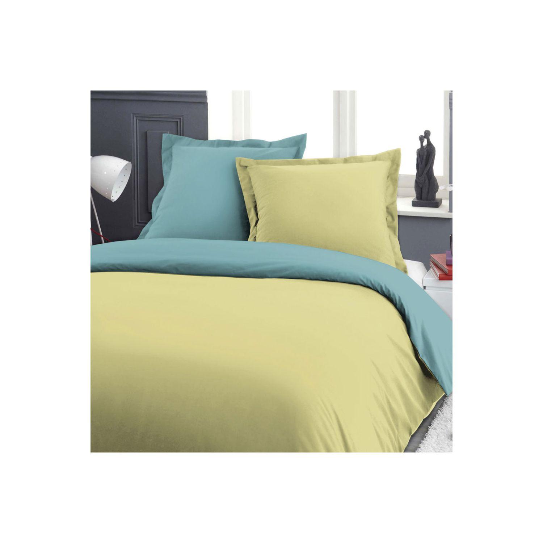 Housse de couette - 240 x 260 cm + taies - Barboncino - Bicolore - Différents coloris
