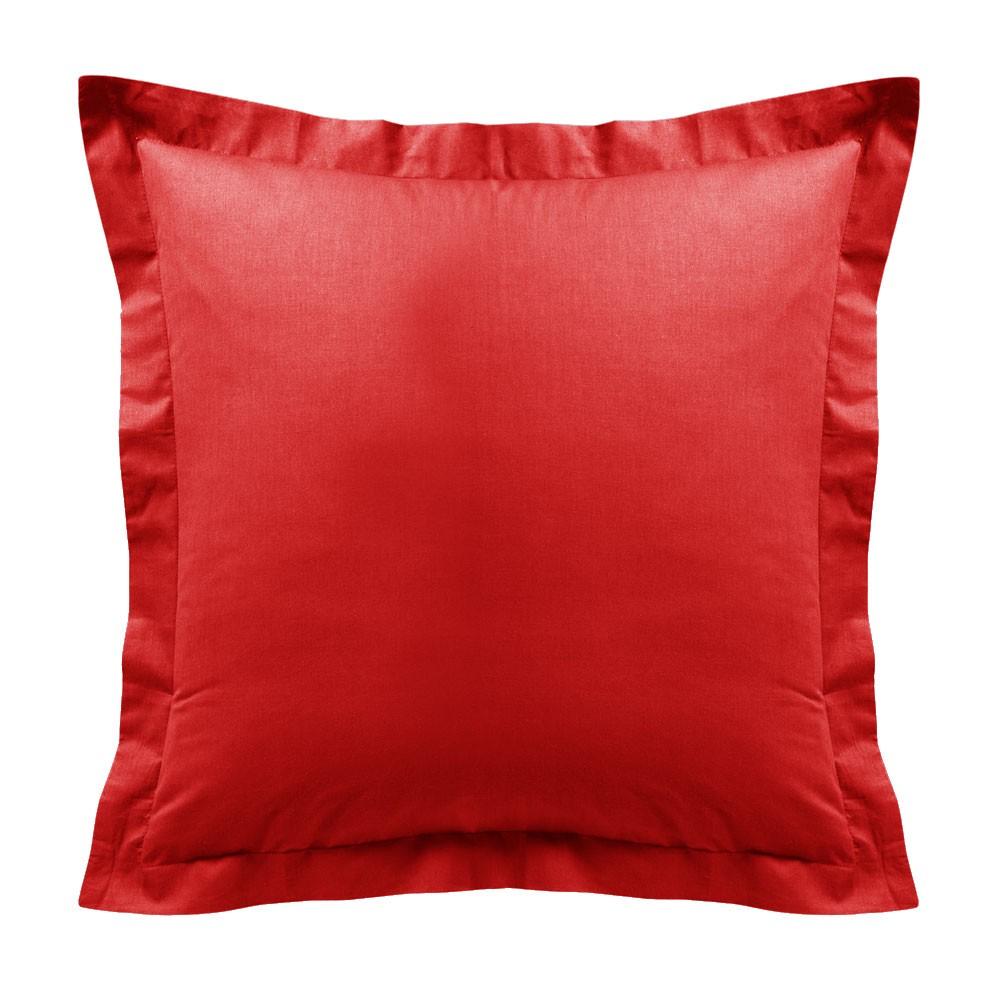 Taie d'oreiller - Carrée - 60 x 60 cm - Différents coloris : Couleur:Pomme d'amour