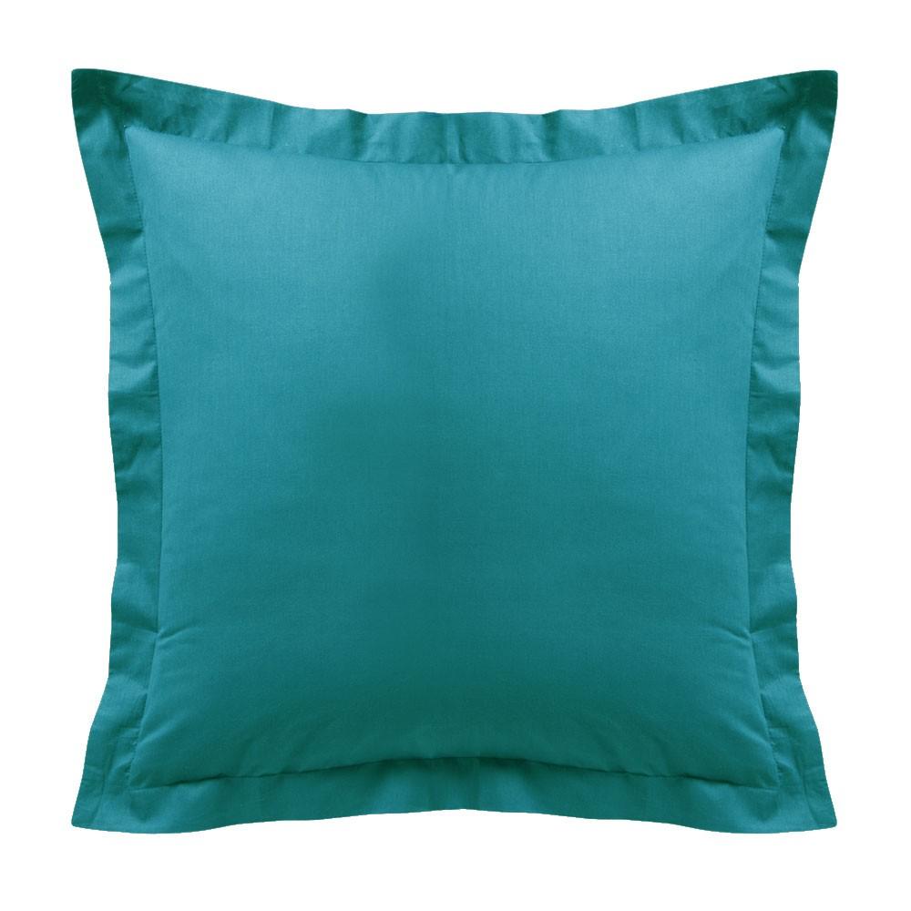Taie d'oreiller - Carrée - 60 x 60 cm - Différents coloris : Couleur:Mer du sud