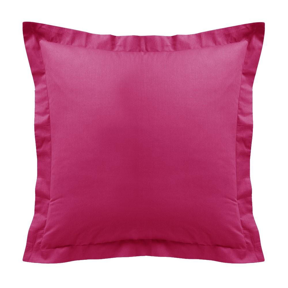 Taie d'oreiller - Carrée - 60 x 60 cm - Différents coloris : Couleur:Jus de myrtille