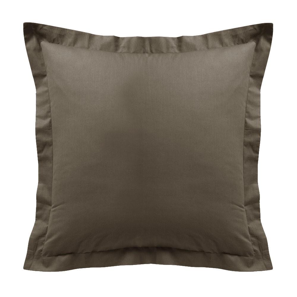 Taie d'oreiller - Carrée - 60 x 60 cm - Différents coloris : Couleur:Bronze