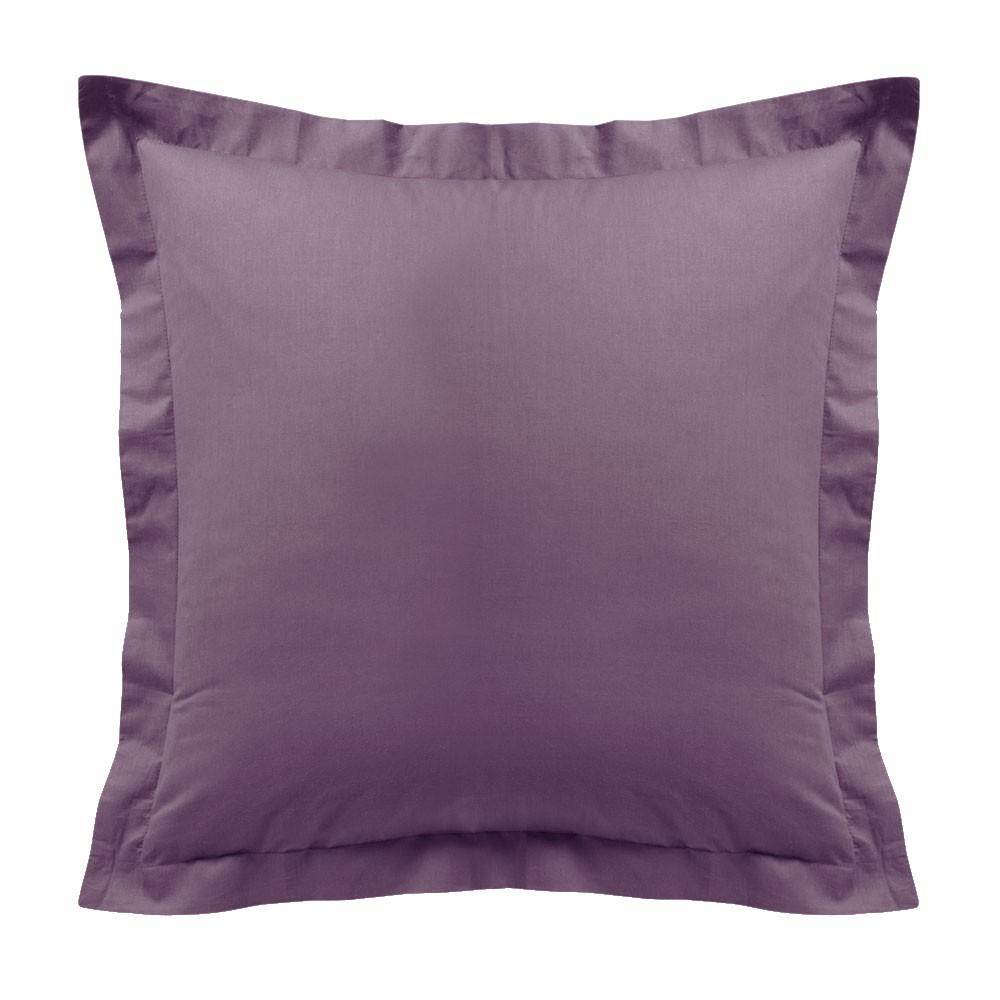 Taie d'oreiller - Carrée - 60 x 60 cm - Différents coloris : Couleur:Figue
