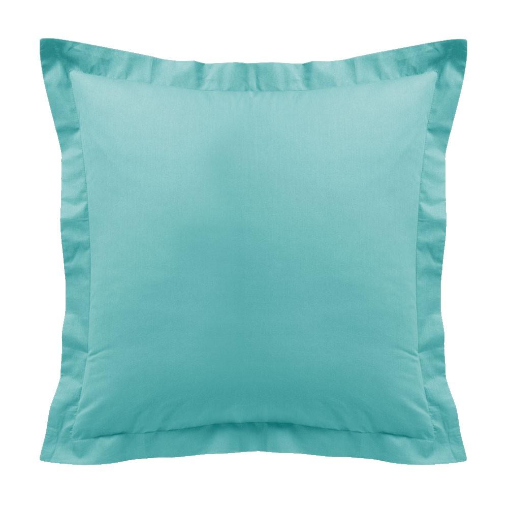 Taie d'oreiller - Carrée - 60 x 60 cm - Différents coloris : Couleur:Portofino