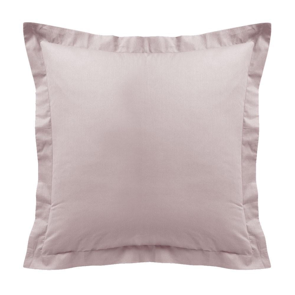 Taie d'oreiller - Carrée - 60 x 60 cm - Différents coloris : Couleur:Poudre Lilas