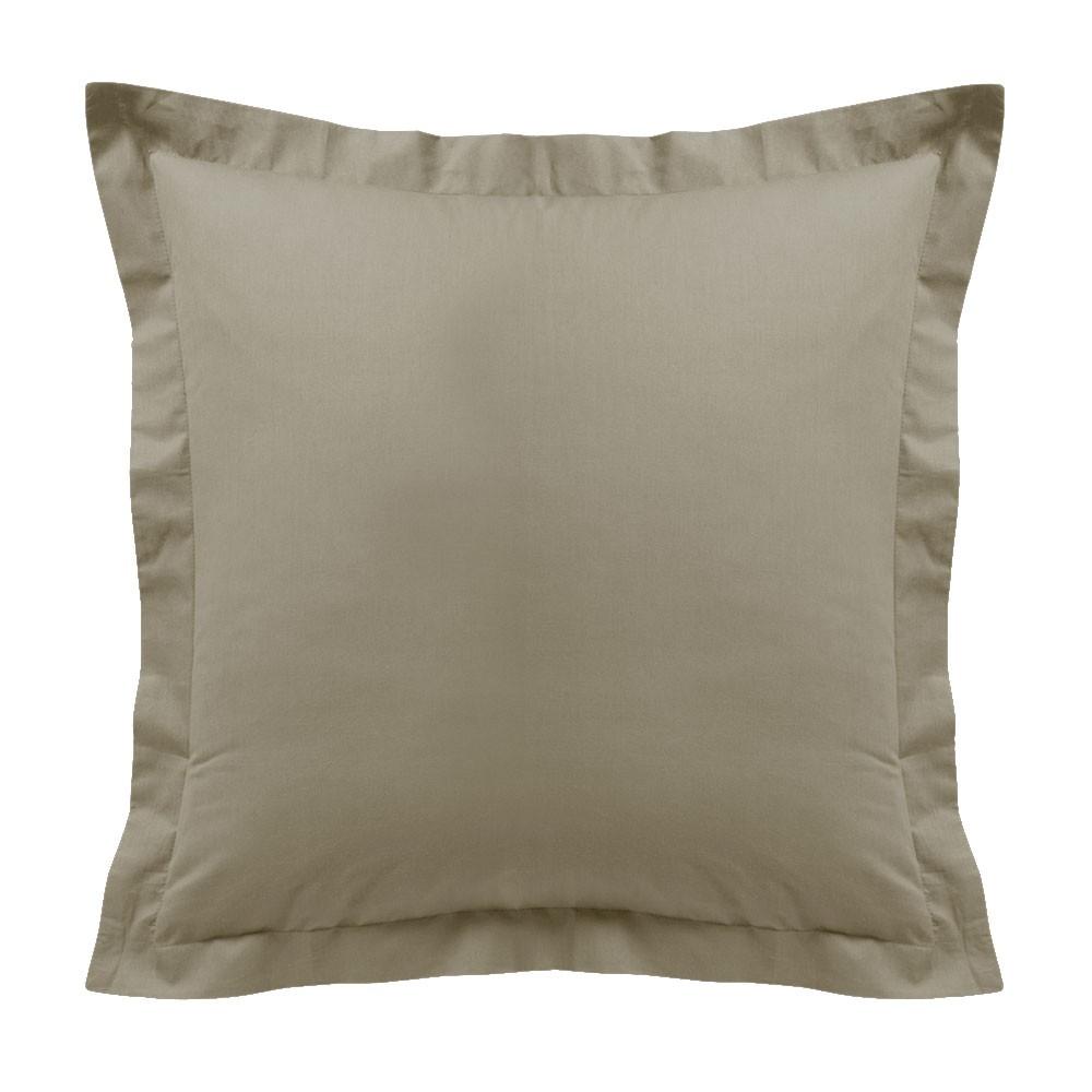Taie d'oreiller - Carrée - 60 x 60 cm - Différents coloris : Couleur:Mastic