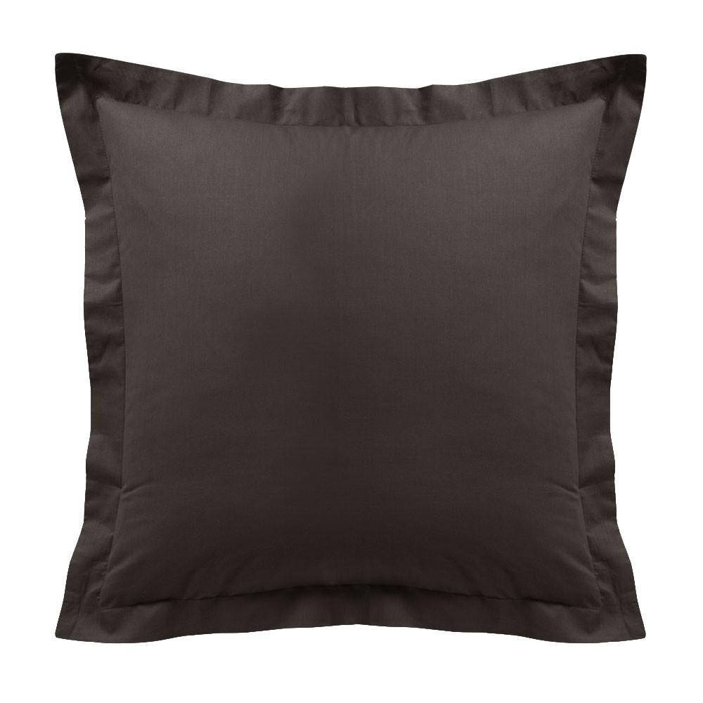 Taie d'oreiller - Carrée - 60 x 60 cm - Différents coloris : Couleur:Cacao