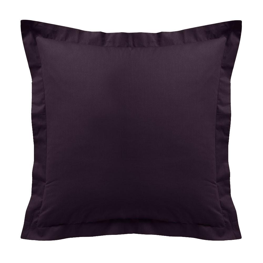 Taie d'oreiller - Carrée - 60 x 60 cm - Différents coloris : Couleur:Deep purple