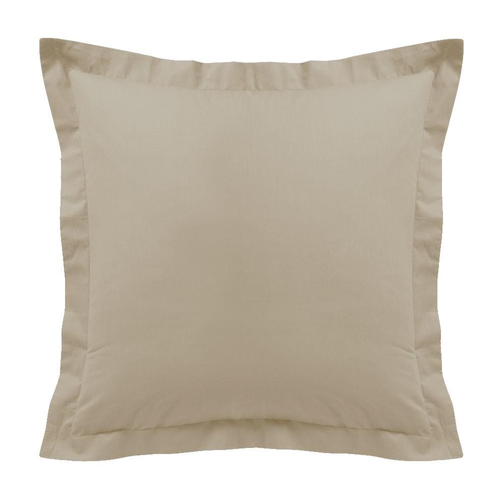 Taie d'oreiller - Carrée - 60 x 60 cm - Différents coloris : Couleur:Ivoire
