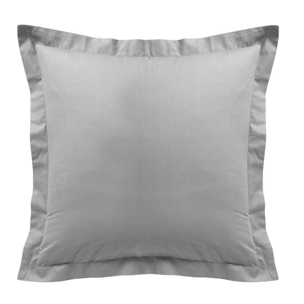 Taie d'oreiller - Carrée - 60 x 60 cm - Différents coloris : Couleur:Zinc