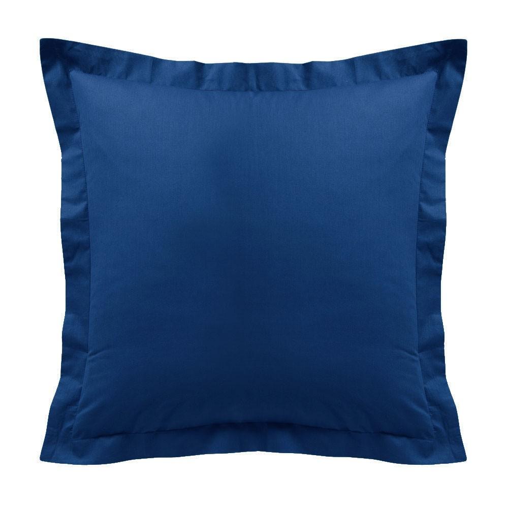 Taie d'oreiller - Carrée - 60 x 60 cm - Différents coloris : Couleur:Indigo