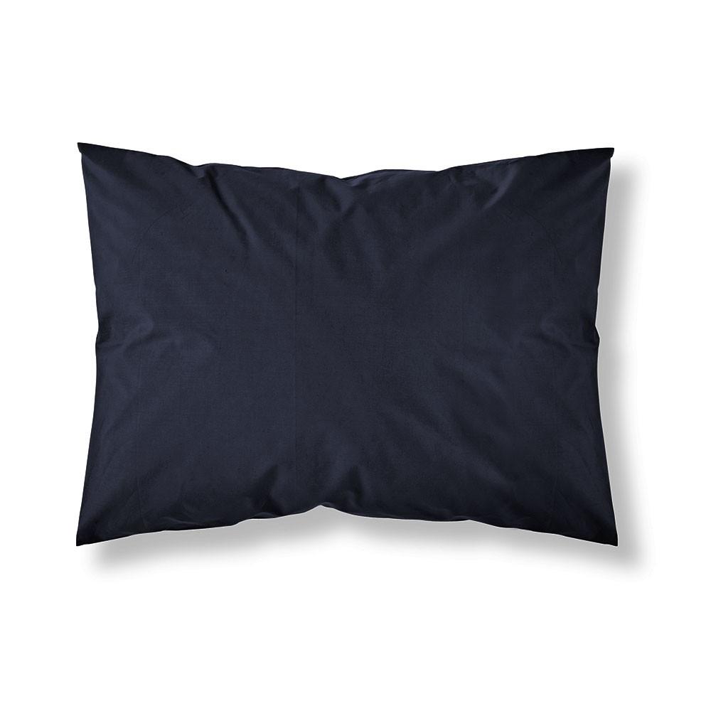 Taie d'oreiller rectangle - 50 x 70 cm - Différents coloris : Couleur:Réglisse
