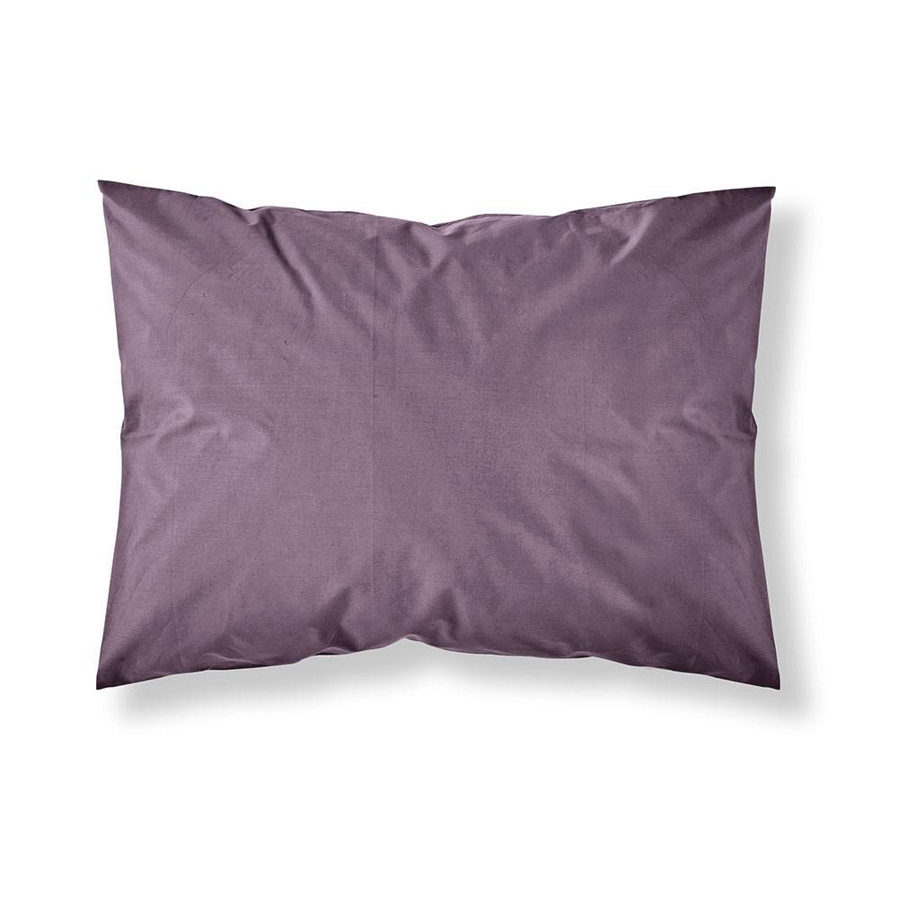 Taie d'oreiller rectangle - 50 x 70 cm - Différents coloris : Couleur:Figue