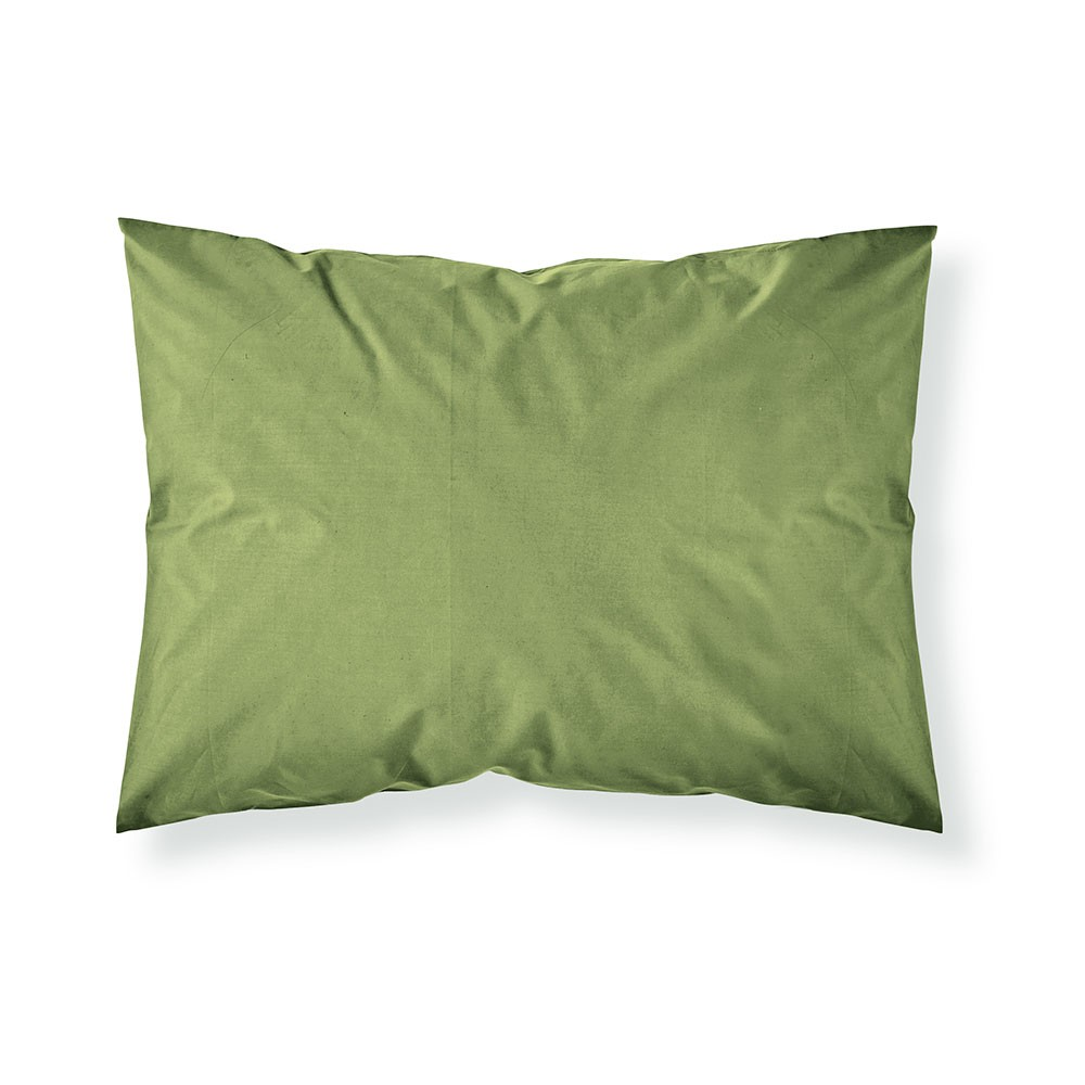 Taie d'oreiller rectangle - 50 x 70 cm - Différents coloris : Couleur:Fougère