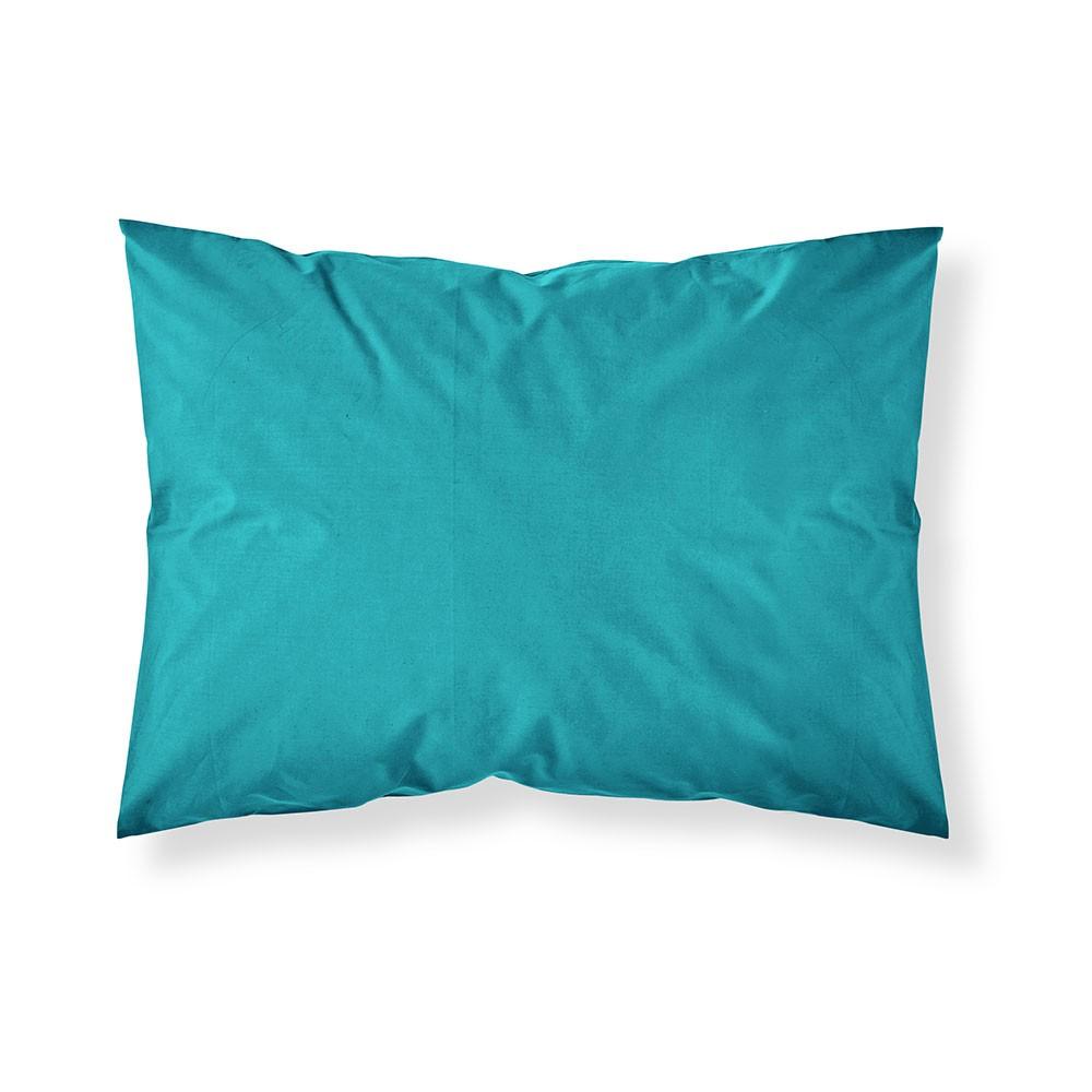 Taie d'oreiller rectangle - 50 x 70 cm - Différents coloris : Couleur:Mer du sud