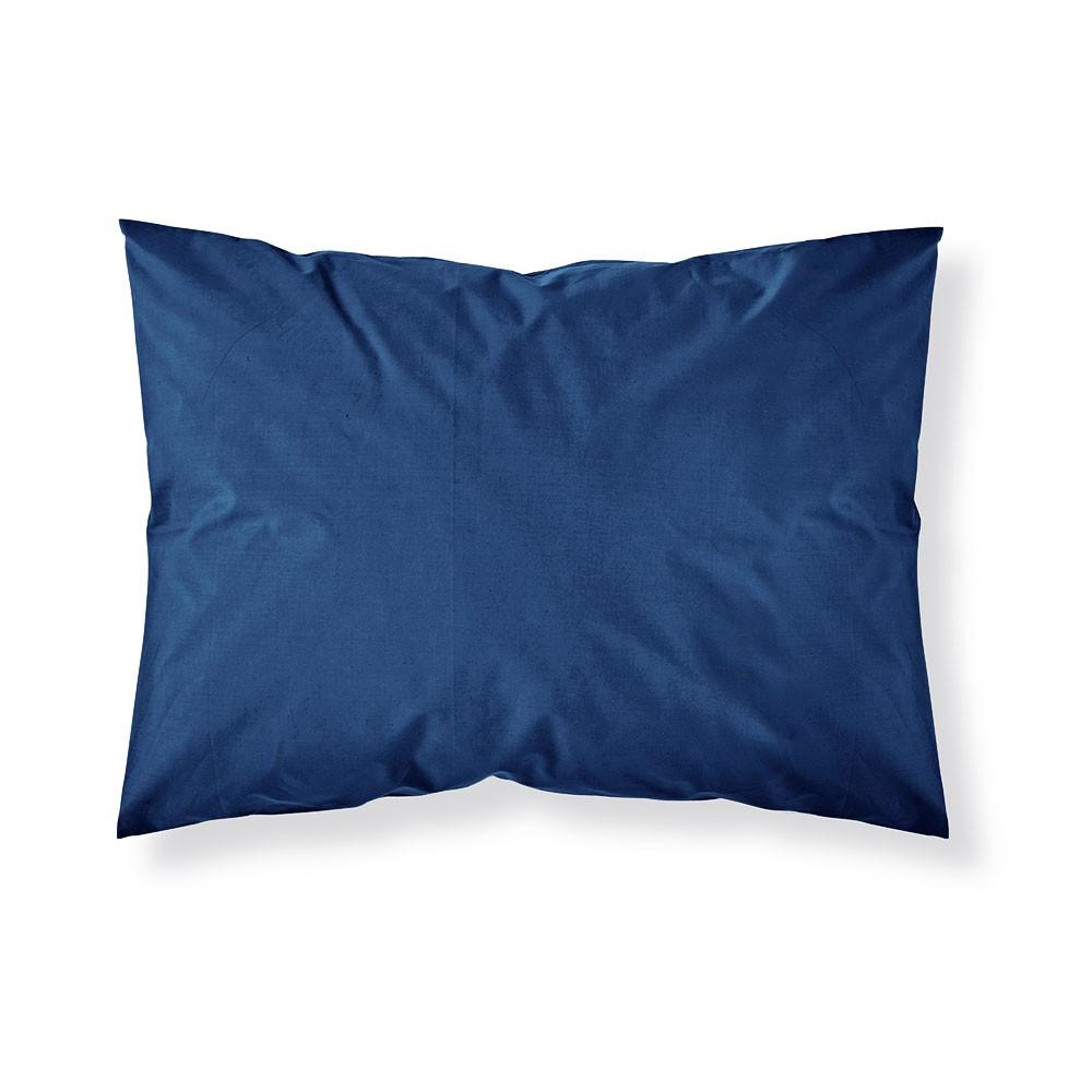 Taie d'oreiller rectangle - 50 x 70 cm - Différents coloris : Couleur:Indigo
