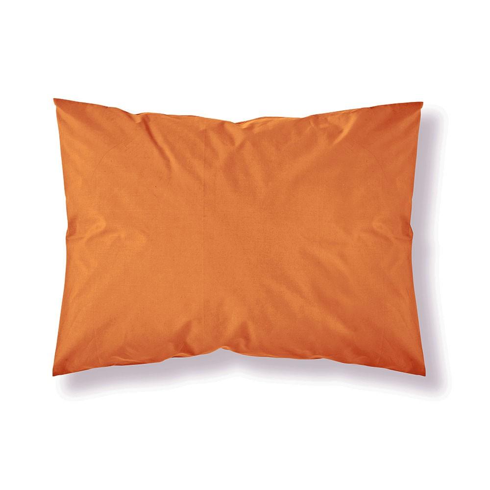Taie d'oreiller rectangle - 50 x 70 cm - Différents coloris : Couleur:Mandarine