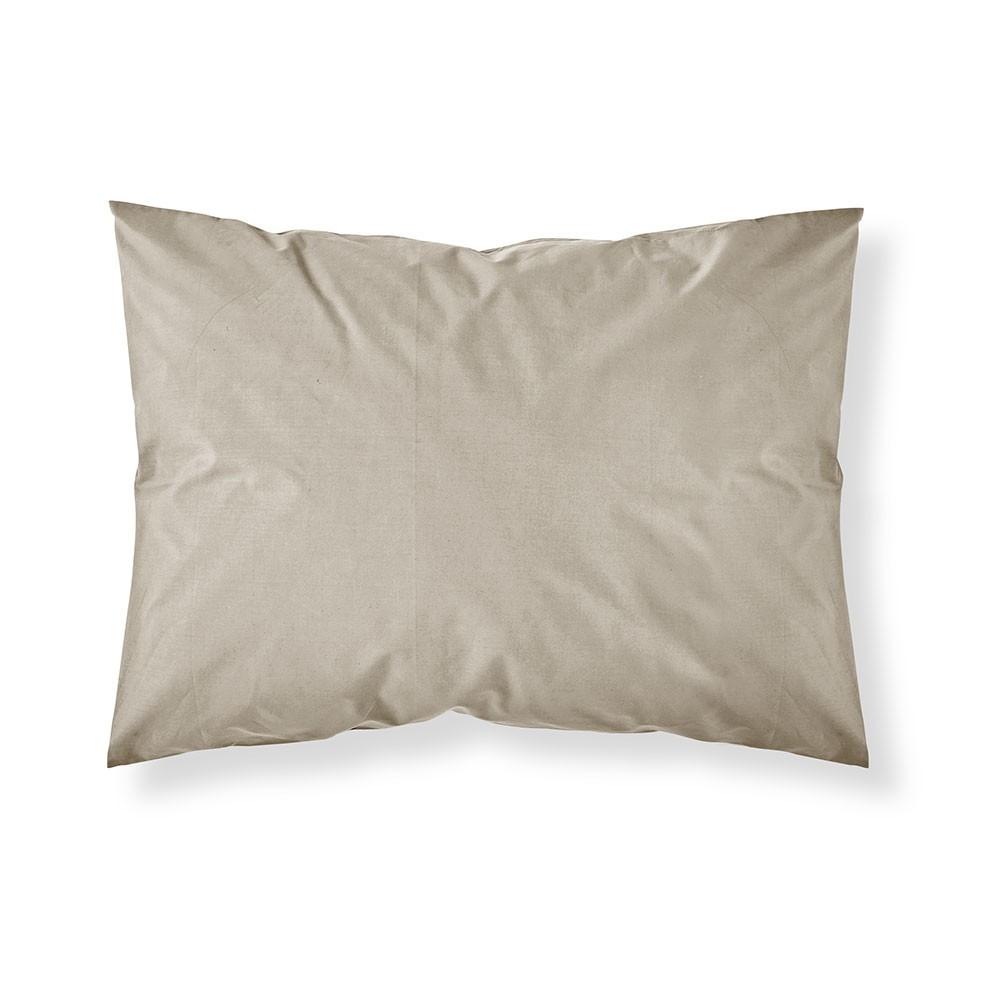 Taie d'oreiller rectangle - 50 x 70 cm - Différents coloris : Couleur:Mastic