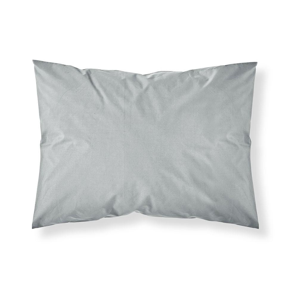 Taie d'oreiller rectangle - 50 x 70 cm - Différents coloris : Couleur:Zinc