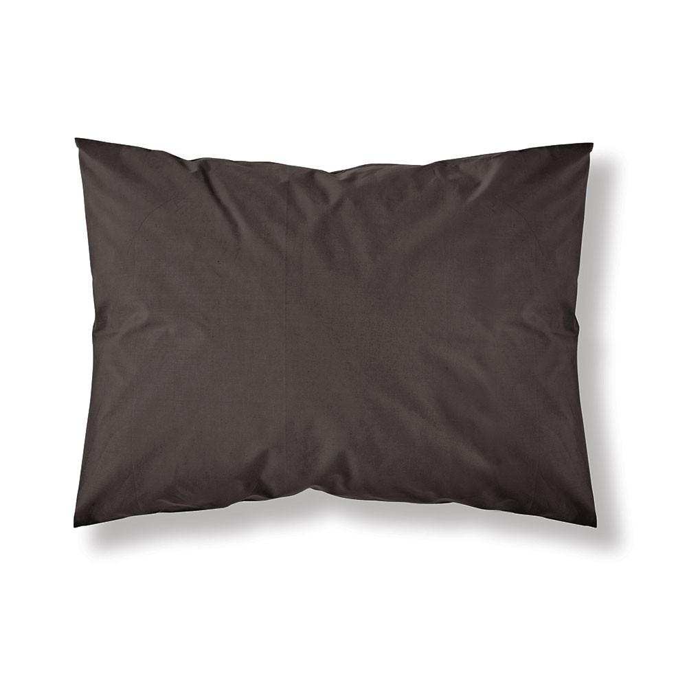 Taie d'oreiller rectangle - 50 x 70 cm - Différents coloris : Couleur:Cacao