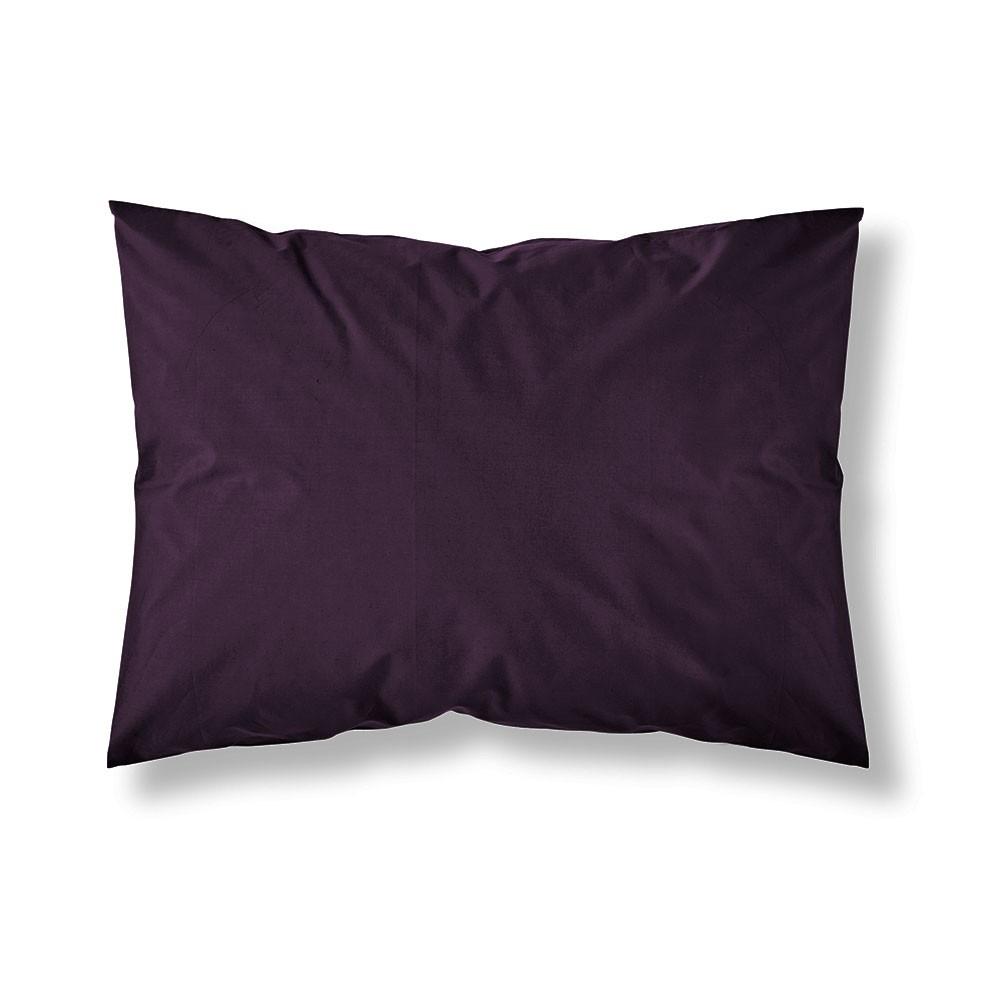 Taie d'oreiller rectangle - 50 x 70 cm - Différents coloris : Couleur:Deep purple