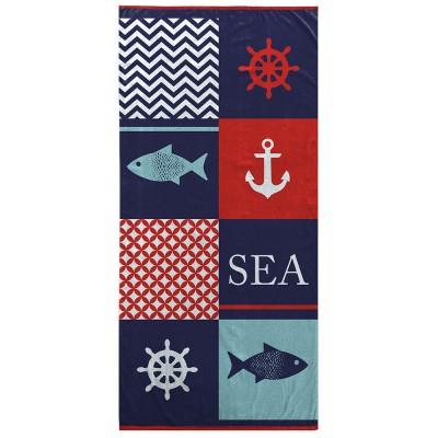 Drap serviette de plage -...