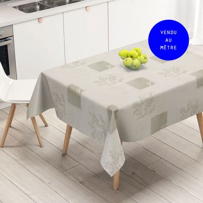 Toile cirée au mètre - maxi Largeur 160 cm - Vera - Blanc