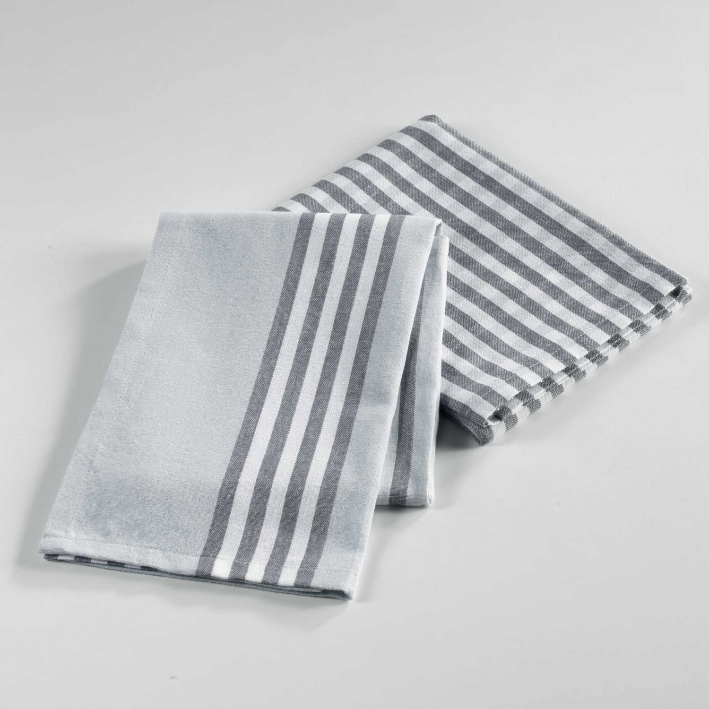 2 torchons - 50 x 70 cm - Coton - Tissé - Popotte