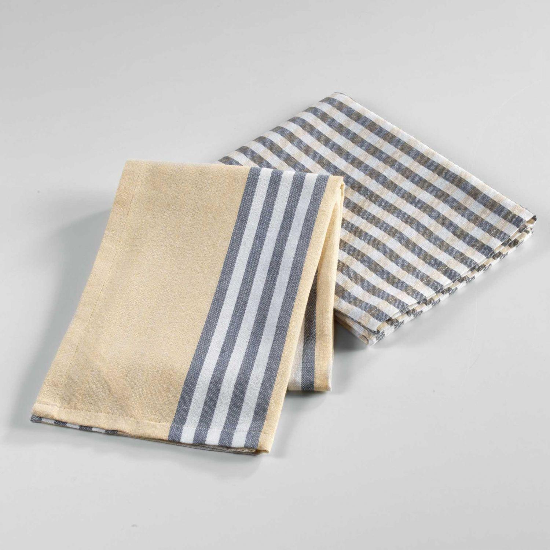 2 torchons - 50 x 70 cm - Coton - Tissé - Hearty