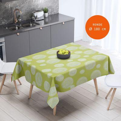 Nappe - Toile cirée ronde - Ø 180 cm - Cirelli - Anis