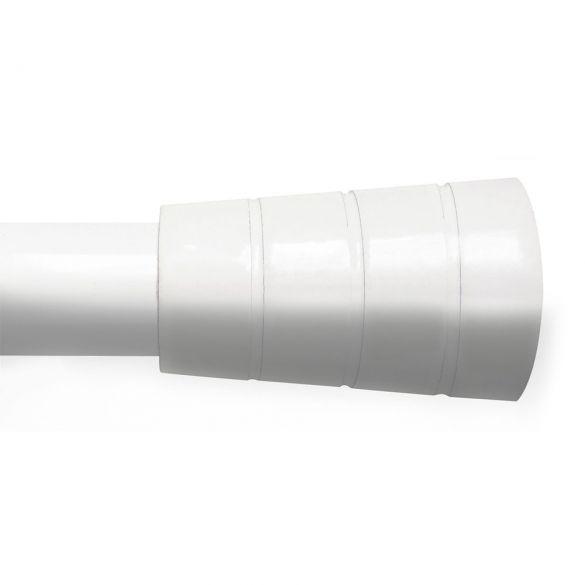 Tringle à rideaux extensible - 120 à 210 cm - Cordoba - Blanc