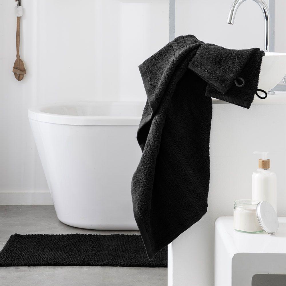 Serviette de toilette - 500 gr/m² - 50 x 90 cm - Today : Couleur:Réglisse