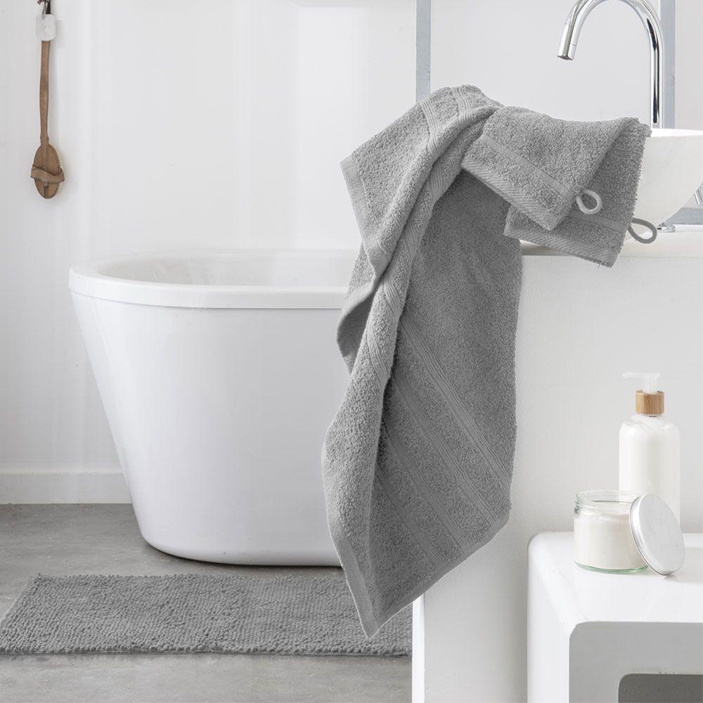 Serviette de toilette - 500 gr/m² - 50 x 90 cm - Today : Couleur:Zinc
