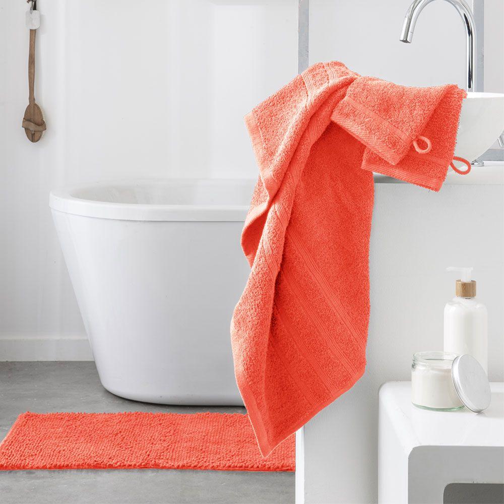 Serviette de toilette - 500 gr/m² - 50 x 90 cm - Today : Couleur:Corail