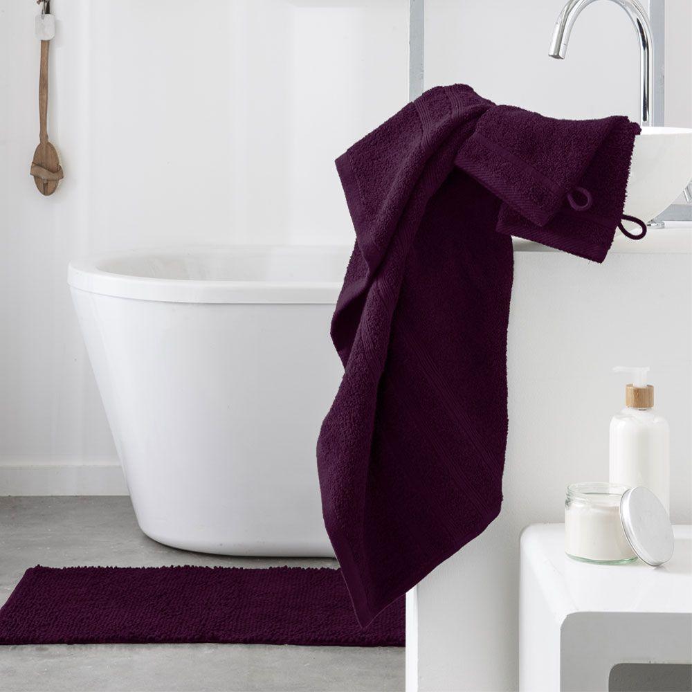 Serviette de toilette - 500 gr/m² - 50 x 90 cm - Today : Couleur:Deep purple