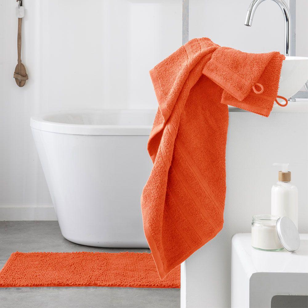 Serviette de toilette - 500 gr/m² - 50 x 90 cm - Today : Couleur:Mandarine