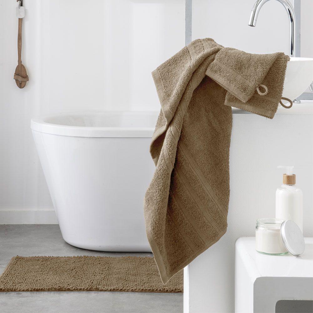 Serviette de toilette - 500 gr/m² - 50 x 90 cm - Today : Couleur:Mastic