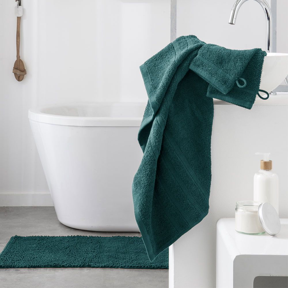 Serviette de toilette - 500 gr/m² - 50 x 90 cm - Today : Couleur:Emeraude
