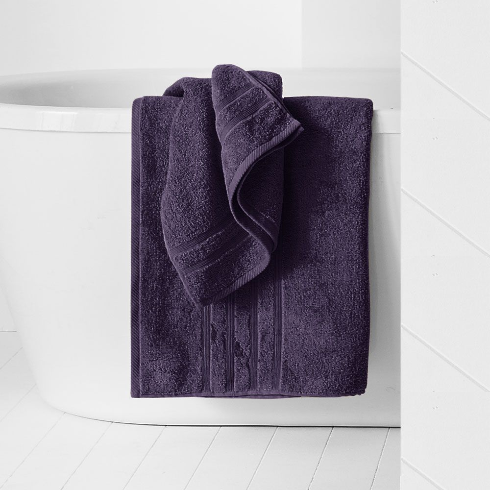 Drap de douche - 500 gr/m² - 70 x 130 cm - Today : Couleur:Deep purple