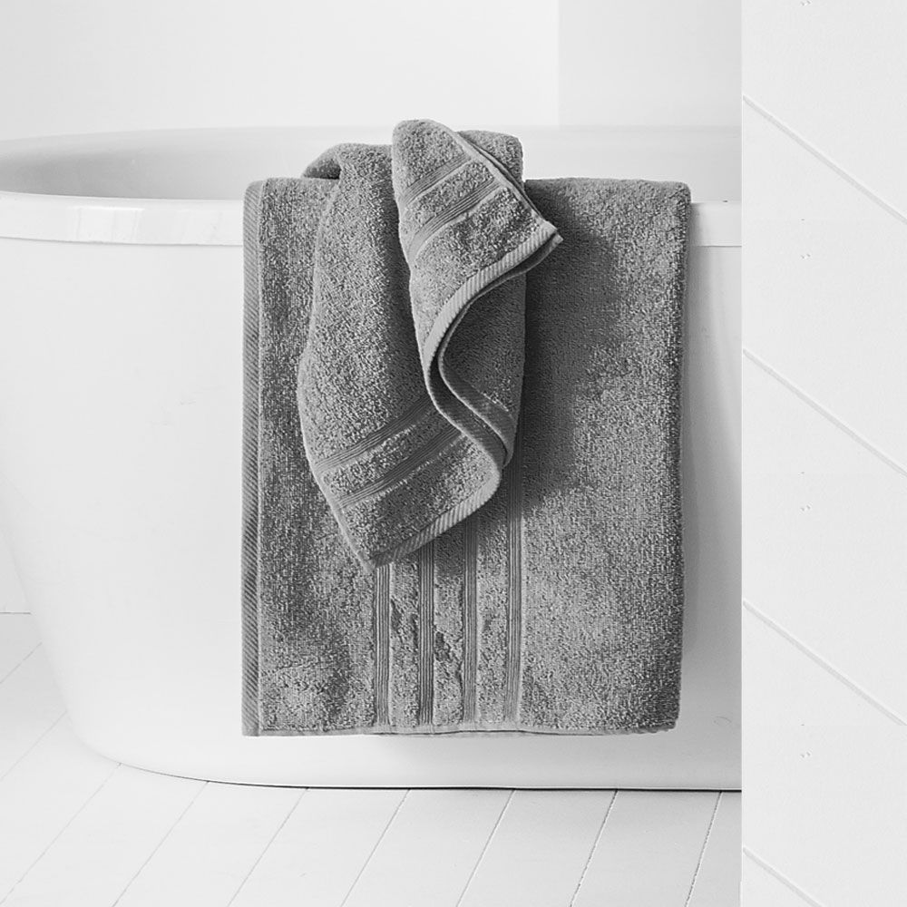 Drap de douche - 500 gr/m² - 70 x 130 cm - Today : Couleur:Zinc